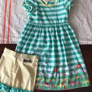 Matilda Jane Dress & shorties. Size 6 both.